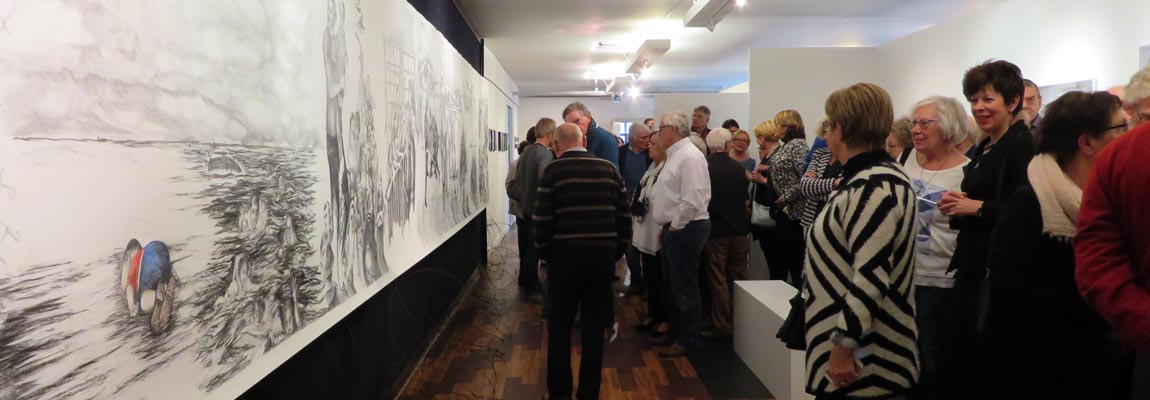 Opening expo febr 2016 Kunstation Uden