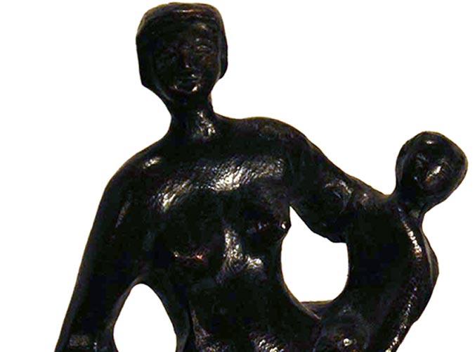 4125 Cor van de Eijnde Baadster met kind