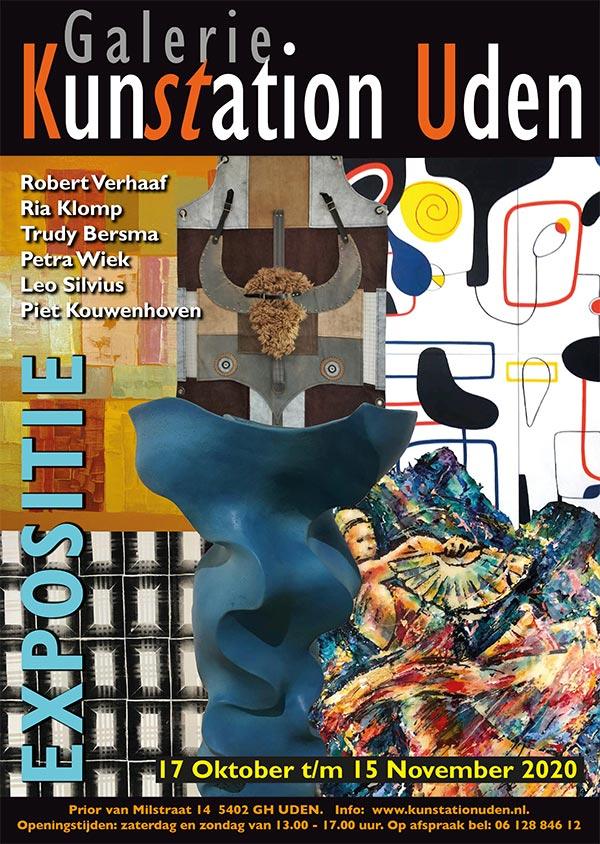 Poster Expositie oktober-november 2020 Kunstation Uden